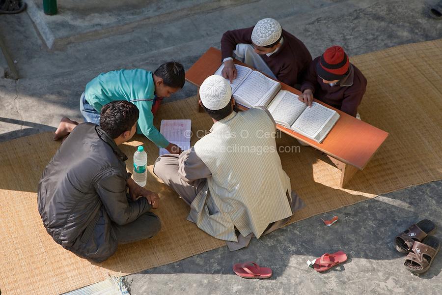 Imam Listens as Madrasa Students Read their Koranic Lessons, Madrasa Imdadul Uloom, Dehradun, India.