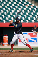 Frankely Hurtado (2) during the Dominican Prospect League Elite Underclass International Series, powered by Baseball Factory, on August 2, 2017 at Silver Cross Field in Joliet, Illinois.  (Mike Janes/Four Seam Images)