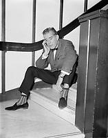 L'animateur de radio St-George Côté, Octobre 1967.<br /> <br /> PHOTO : Agence Québec Presse -
