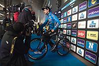 Wout Van Aert (BEL/Veranda's Willems-Crelan) Pre race interview.<br /> <br /> 73th Omloop Het Nieuwsblad 2018<br /> Gent-Meerbeke (BEL) - 196km