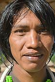 Pará State, Brazil. Aldeia Pukararankre (Kayapo). Nhutire Kayapo, a warrior.
