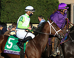 November 6, 2020: Aunt Pearl, ridden by Florent Geroux, wins the Juvenile Fillies Turf on Breeders' Cup Championship Friday at Keeneland on November 6, 2020: in Lexington, Kentucky. Candice Chavez/Breeders' Cup/Eclipse Sportswire/CSM