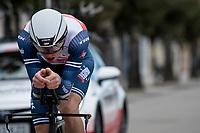 Giulio Ciccone (ITA/Trek - Segafredo)<br /> <br /> Final stage 7 (ITT) from San Benedetto del Tronto to San Benedetto del Tronto (10.1km)<br /> <br /> 56th Tirreno-Adriatico 2021 (2.UWT) <br /> <br /> ©kramon