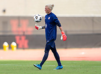 HOUSTON, TX - JUNE 12: Jane Campbell #18 of the USWNT carries the ball during a training session at University of Houston on June 12, 2021 in Houston, Texas.