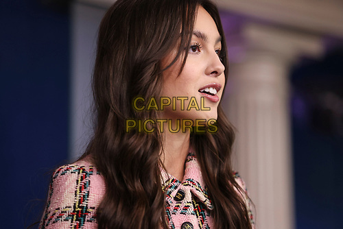 Olivia Rodrigo speaks, during a news conference in the James S. Brady Press Briefing Room with Jen Psaki, White House press secretary, at the White House in Washington, D.C., U.S., on Wednesday, July 14, 2021.<br /> CAP/MPI/RS<br /> ©RS/MPI/Capital Pictures