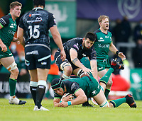 4th June 2021; Galway Sportsgrounds, Galway, Connacht, Ireland; Rainbow Cup Rugby, Connacht versus Ospreys; Ultan Dillane holds on to the ball for Connacht