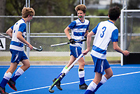 Saint Kentigern Luka Clark scores a goal  - during the Division A Boys Final, between Saint Kentigern College and Kings College, during Upper North Island Secondary School Hockey Championship, North Harbour Hockey, North Shore, Auckland . Friday 9 October 2020 Photo: Brett Phibbs / www.bwmedia.co.nz / Hockey New Zealand