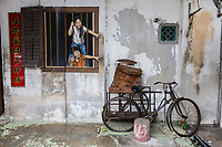 George Town, Penang, Malaysia.  Wall Painting by Ernest Zacharevic.