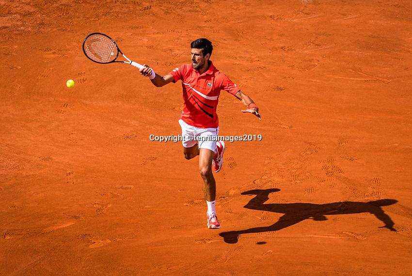Paris, France, 27 May, 2019, Tennis, French Open, Roland Garros, Novak Djokovic (SER)<br /> Photo: Henk Koster/tennisimages.com