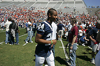 State College, PA -- 04/21/2007 -- The White team defeated the Blue team 30-6 in the annual Penn State Blue-White Game football scrimmage.  (PHOTO CREDIT:  Joe Rokita / JoeRokita.com)..White 30.Blue 6..Photos ©2007 Joe Rokita Photography..