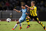 Borussia Dortmund midfielder Felix Passlack (r) fights for the ball with Manchester City Pablo Maffeo (l) during the match between City and Borussia at the 2016 International Champions Cup China match at the Shenzhen Stadium on 28 July 2016 in Shenzhen, China. Photo by Victor Fraile / Power Sport Images