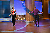 First Lady Michelle Obama and Dr. Mehmet Oz jump rope during a taping of the ?Dr. Oz Show,? at the Dr. Oz Studio in Rockefeller Plaza in New York, New York, August 29, 2012. The First Lady's appearance was part of a back to school tour to discuss improvements to federal guidelines for school lunches and updates to the Presidential Youth Fitness Program..Mandatory Credit: Sonya N. Hebert - White House via CNP