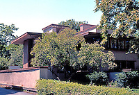 F.L. Wright: Balch House, 611 N. Kenilworth, Oak Park. 1911.  Photo '76.
