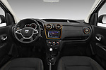 Stock photo of straight dashboard view of a 2017 Dacia Dokker Stepway SL Explorer 5 Door Mini Van