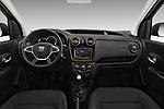 Stock photo of straight dashboard view of a 2017 Dacia Dokker Stepway SL Explorer 5 Door Mini Van