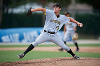 Pittsburgh Pirates pitcher Ike Schlabach (55) delivers a pitch during an Instructional League game against the Toronto Blue Jays on October 14, 2017 at the Englebert Complex in Dunedin, Florida.  (Mike Janes/Four Seam Images)