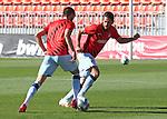 Atletico de Madrid's Yannick Carrasco (l) and Koke Resurreccion during training session. June 5,2020.(ALTERPHOTOS/Atletico de Madrid/Pool)