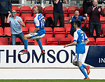 St Johnstone v Ross County…12.05.18…  McDiarmid Park    SPFL<br />David Wotherspoon celebrates his goal<br />Picture by Graeme Hart. <br />Copyright Perthshire Picture Agency<br />Tel: 01738 623350  Mobile: 07990 594431