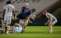 20th November 2020; AJ Bell Stadium, Salford, Lancashire, England; English Premiership Rugby, Sale Sharks versus Northampton Saints;  Dan du Preez of Sale Sharks releases the ball to brother Jean-Luc du Preez