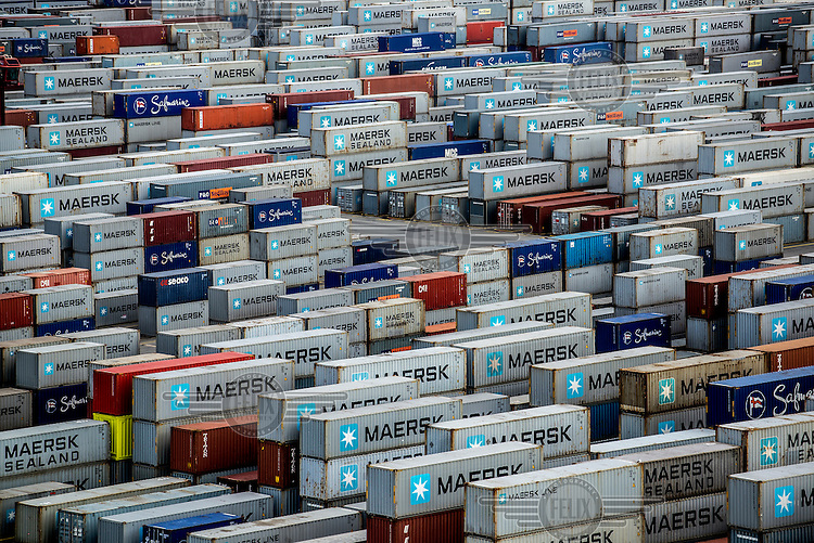Containers at the port of Bremerhaven.