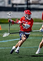 1 May 2021: Stony Brook University Seawolves Attacker Cory Van Ginhoven, a Graduate Student from Charlotte, NC, in action against the University of Vermont Catamounts at Virtue Field in Burlington, Vermont. The Cats edged out the Seawolves 14-13 with less than one second to play in their America East Men's Lacrosse matchup. Mandatory Credit: Ed Wolfstein Photo *** RAW (NEF) Image File Available ***
