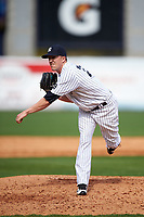 New York Yankees relief pitcher Tyler Olson (75) delivers a pitch during a Spring Training game against the Detroit Tigers on March 2, 2016 at George M. Steinbrenner Field in Tampa, Florida.  New York defeated Detroit 10-9.  (Mike Janes/Four Seam Images)