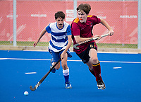 Kings College Adam Searle  - during the Division A Boys Final, between Saint Kentigern College and Kings College, during Upper North Island Secondary School Hockey Championship, North Harbour Hockey, North Shore, Auckland . Friday 9 October 2020 Photo: Brett Phibbs / www.bwmedia.co.nz / Hockey New Zealand