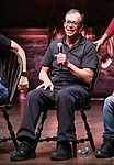 """Eric Castaldo during the Q & A before The Rockefeller Foundation and The Gilder Lehrman Institute of American History sponsored High School student #EduHam matinee performance of """"Hamilton"""" at the Richard Rodgers Theatre on 5/22/2019 in New York City."""
