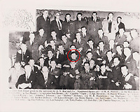 BNPS.co.uk (01202 558833)<br /> Pic: AnthonyCribb/BNPS<br /> <br /> Pictured: Sergeant Vivian Nicholson (circled).<br /> <br /> Rare navigation sheets which provide a gripping blow-by-blow account of the famous Dambusters raid of World War Two have come to light 78 years on.<br /> <br /> They were filled in by Sergeant Vivian Nicholson who was a navigator on one of the 19 Lancaster bombers involved in Operation Chastise on the night of May 16, 1943.<br /> <br /> As well as jotting down technical information such as wind speeds and directions, Sgt Nicholson used short phrases to offer a 'real-time' commentary of the perilous mission.