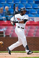 First baseman Brandon Allen (22) of the Winston-Salem Warthogs follows through on his swing versus the Frederick Keys at Ernie Shore Field in Winston-Salem, NC, Sunday, April 20, 2008.