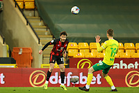 17th April 2021; Carrow Road, Norwich, Norfolk, England, English Football League Championship Football, Norwich versus Bournemouth; Adam Smith of Bournemouth heads the ball cross goal