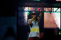 Montreal (Qc) Canada - August  2011 File Photo - <br /> Lil Wayne in concert