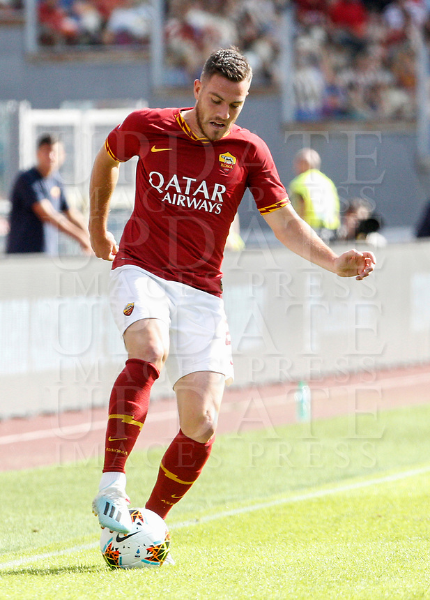 Roma's Leonardo Spinazzola in action during the Serie A soccer match between Roma and Cagliari at Rome's Olympic Stadium, October 6, 2019. UPDATE IMAGES PRESS/ Riccardo De Luca
