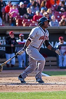 Quad Cities River Bandits outfielder Ronnie Dawson (12) at the plate during a Midwest League game against the Wisconsin Timber Rattlers on April 8, 2017 at Fox Cities Stadium in Appleton, Wisconsin.  Wisconsin defeated Quad Cities 3-2. (Brad Krause/Four Seam Images)