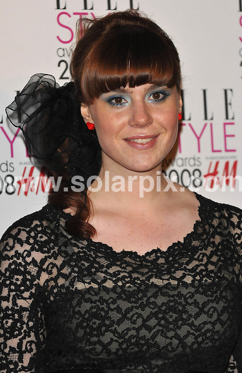 **ALL ROUND PICTURES FROM SOLARPIX.COM**.**WORLDWIDE SYNDICATION RIGHTS**.Celebrities arrive for the Elle Style Awards at The Roundhouse, London. 12th February 2008..This pic: Kate Nash..JOB REF: 5777 ATM     DATE: 12_02_2008.**MUST CREDIT SOLARPIX.COM OR DOUBLE FEE WILL BE CHARGED* *UNDER NO CIRCUMSTANCES IS THIS IMAGE TO BE REPRODUCED FOR ANY ONLINE EDITION WITHOUT PRIOR PERMISSION*