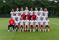 MIYAZAKI, JAPAN - JULY 13: The USWNT poses for their official Tokyo 2020 games portrait at the practice fields on July 13, 2021 in Miyazaki, Japan.