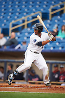 Lake County Captains first baseman Bobby Bradley (44) at bat during a game against the Fort Wayne TinCaps on May 20, 2015 at Classic Park in Eastlake, Ohio.  Lake County defeated Fort Wayne 4-3.  (Mike Janes/Four Seam Images)