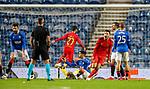26.11 2020 Rangers v Benfica: Pizzi scores Benfica's second goal past Allan McGregor and celebrates
