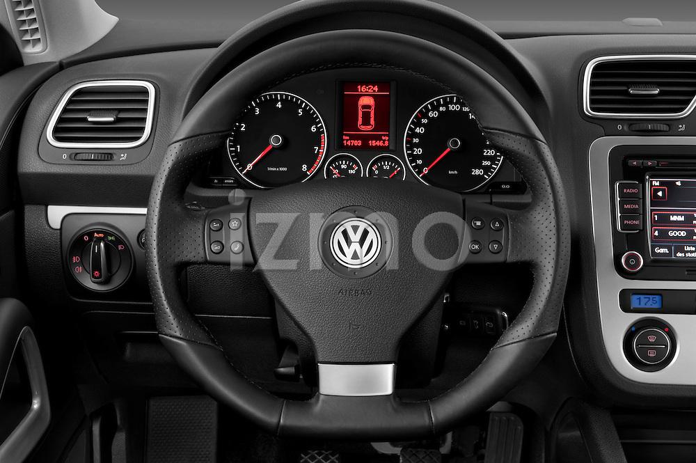 Steering wheel view of a 2009 Volkswagen Scirocco