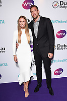 Caroline Wozniacki and David Lee<br /> arriving for the WTA Summer Party 2019 at the Jumeirah Carlton Tower Hotel, London<br /> <br /> ©Ash Knotek  D3512  28/06/2019