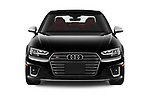 Car photography straight front view of a 2019 Audi S4 Premium-Plus 4 Door Sedan Front View