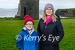 Enjoying a stroll in Ballybunion on Saturday, l to r: April and Margaret O'Keeffe Howard.