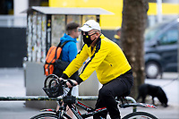 16th May 2020, Signal Iduna Park, Dortmund, Germany; Bundesliga football, Borussia Dortmund versus FC Schalke;   Exterior shot before the first matchday of the Ghost Games because of the coronavirus. In picture A Dortmund fan with mouth nose protection