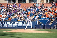 University of Washington Huskies Josh Burgmann (20) warms up prior to the game against the Cal State Fullerton Titans at Goodwin Field on June 09, 2018 in Fullerton, California. The Cal State Fullerton Titans defeated the University of Washington Huskies 5-2. (Donn Parris/Four Seam Images)