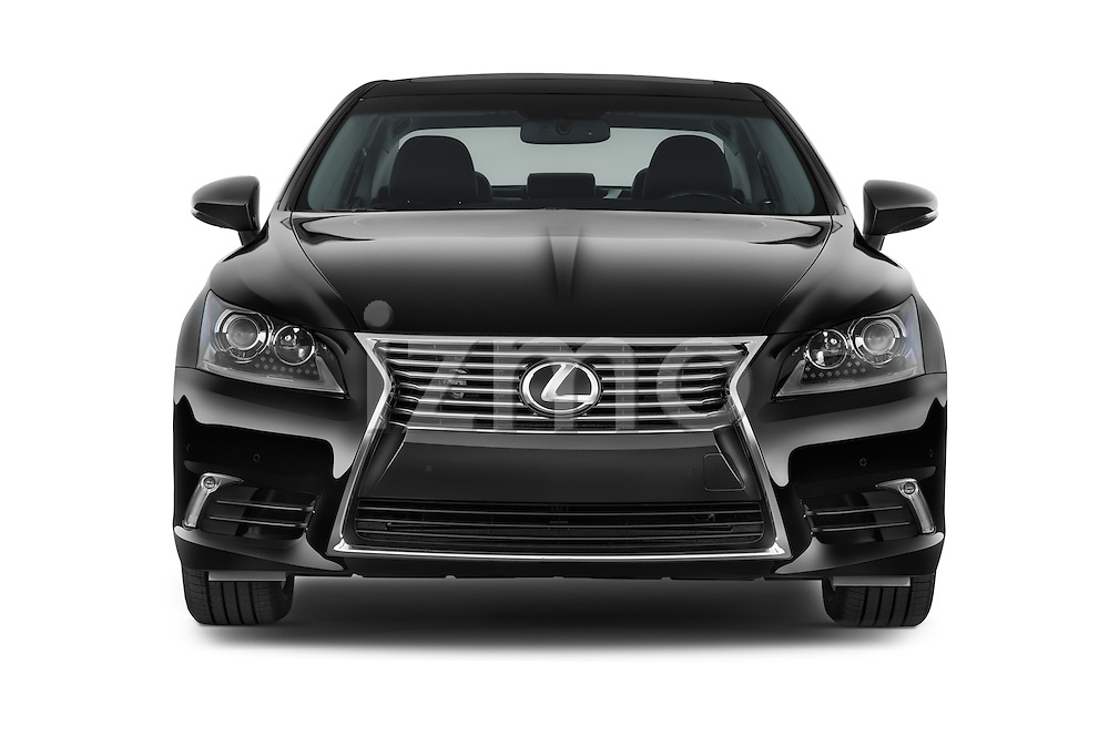 Car photography straight front view of a 2015 Lexus LS 460 4 Door Sedan