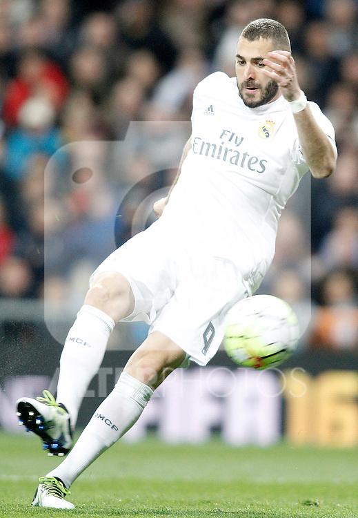 Real Madrid's Karim Benzema during La Liga match. March 20,2016. (ALTERPHOTOS/Acero)