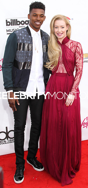 LAS VEGAS, NV, USA - MAY 18: Nick Young, Iggy Azalea at the Billboard Music Awards 2014 held at the MGM Grand Garden Arena on May 18, 2014 in Las Vegas, Nevada, United States. (Photo by Xavier Collin/Celebrity Monitor)