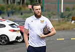 St Johnstone v Fleetwood Town…24.07.21  McDiarmid Park<br />Zander Clark arrives at McDiarmid Park ahead of today's pre-season friendly against Fleetwood Town<br />Picture by Graeme Hart.<br />Copyright Perthshire Picture Agency<br />Tel: 01738 623350  Mobile: 07990 594431