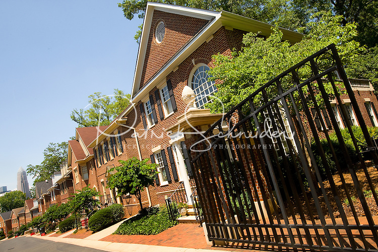 Townhouses in a gated community in Charlotte, NC.