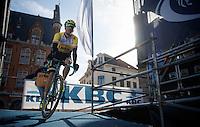 Robert Wagner (DEU/LottoNL-Jumbo) coming off the start podium<br /> <br /> 99th Ronde van Vlaanderen 2015